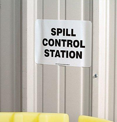 (SpillTech A-SIGN Spill Control Station Sign)
