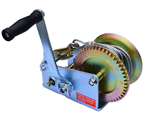 uty 2-Speed Hand Crank Winch Cable-2500lb ()