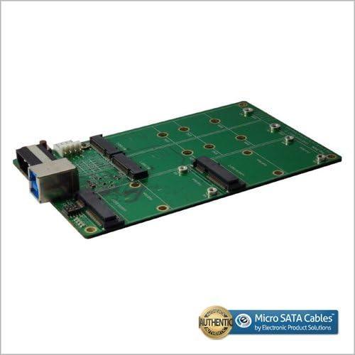 USB 3.1 B Type to M.2 SSD X2 and mSATA SSD X2 Clone and RAID Card