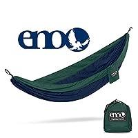 ENO - Hamaca SingleNest de Eagles Nest Outfitters, hamaca portátil para uno, azul marino /forestal