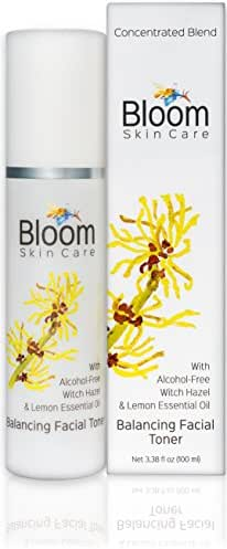 Bloom Skin Care Balancing Facial Toner 3.38oz - Natural Astringent with Witch Hazel for Women and Men - Alcohol, Paraben and Cruelty Free -skin tightening, PH Balancing and Anti Aging for Healthy Skin