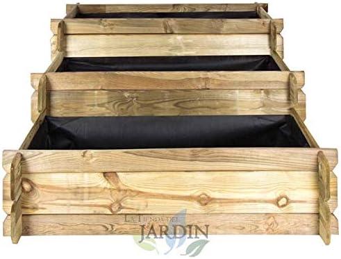 HUERTO URBANO Escalera 3 alturas 134 x 88 x 40 cm. Perfecto para cultivar un huerto familiar en su hogar