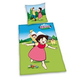 Herding 440414077 - Juego de cama (100% algodón, funda nórdica de 140 x 200 cm, funda de almohada de 70 x 90 cm), diseño de Heidi