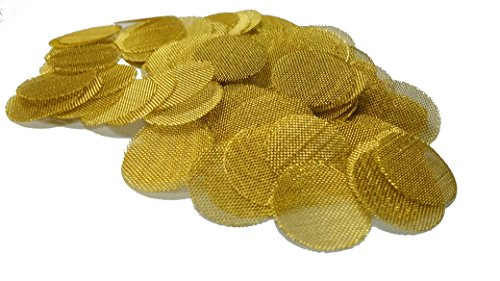 Grimm SUPA Brass Screens Pipe Screen Filters - 3/4 Inch, 50 in Pack