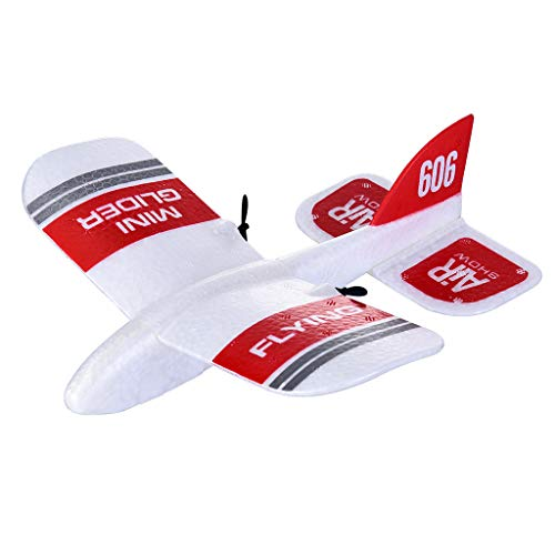 (Aobiny RC Airplane,KFPLAN KF606 2.4Ghz 2CH EPP Mini Indoor RC Airplane Glider Built-in Gyro RTF (Red))