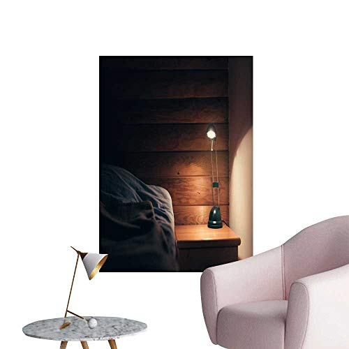 SeptSonne Wall Decals lamp on a Night Table Next to a Sleep be Environmental Protection Vinyl,32