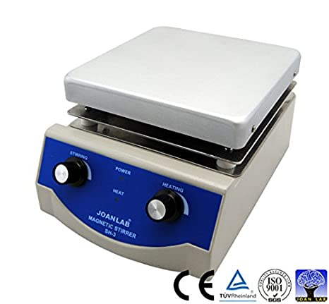 JoanLab Lab SH-3 Magnetic Stirrer Hot Plate, Stir Plate, Magnetic Mixer, 3,000mL, 100~1600rpm, 500W, 350°C