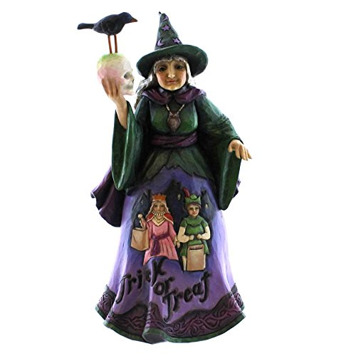 (Jim Shore for Enesco Heartwood Creek Trick or Treat Witch Figurine, 9.25-Inch )