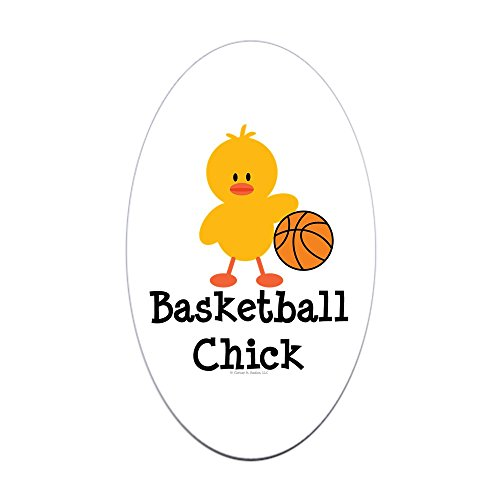 CafePress Basketball Chick Oval Sticker Oval Bumper Sticker, Euro Oval Car Decal