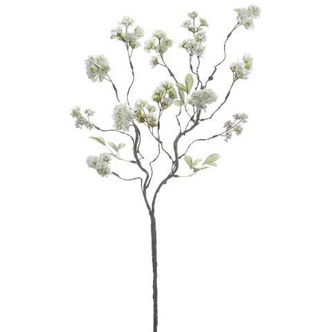31'' Handwrapped Silk Mini Blossom Flower Spray -Cream (Pack of 12)