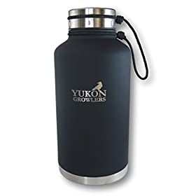 Yukon Growlers Insulated Beer Growler – Keep Your Beer Cold and Carbonated for 24 Hours in Thi