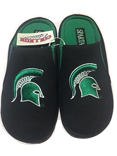 College Edition Mens Svart Pappersfackets Tofflor Michigan State
