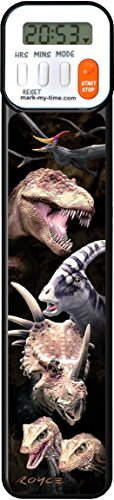 Mark-My-Time 3D Dinosaur Digital Bookmark and Reading Timer -