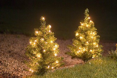 3 x 60cm pre lit christmas tree path lights