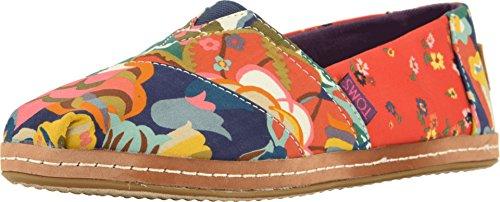 TOMS Women's Alpargata Red Ditzy Floral/Mosaic Linen 7 B US -