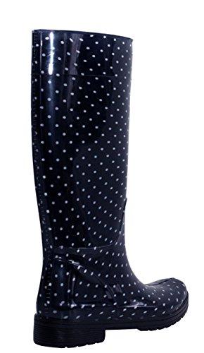 A&H Footwear ,  Mädchen Damen Arbeits-Gummistiefel Navy/Spots