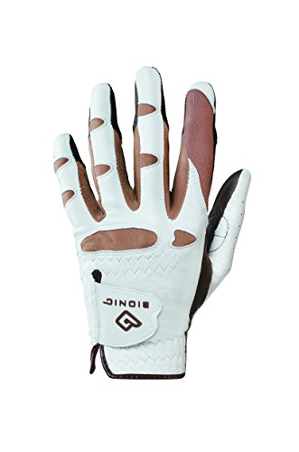 (Bionic GGNTWLL Women's StableGrip with Natural Fit Truffle Golf Glove, Left Hand, Large )
