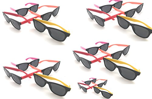 Oojami 24 Pack 80's Style Neon Party Sunglasses - Fun Gift, Party Favors, Party Toys, Goody Bag Favors ()