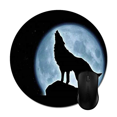 Halloween Music Night of The were Wolf Mouse Pad - Trendy Stylish Office Accessory Computer Gaming(8