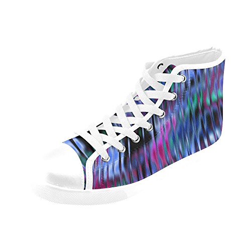 Artsadd Decor 20 High Top Canvas Shoes For Women (model002)