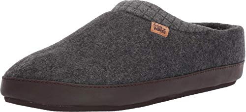 Freewaters Men's Jeffrey House Shoe Slipper W/Happy Arch Support and Durable Indoor/Outdoor Sole, Dark Grey, L (11-12) Medium US