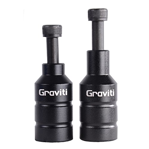 GRAVITI Pro Scooter Pegs CNC Aluminum Pegs with Axle Hardware for Freestyle Stunt Scooters(Black)