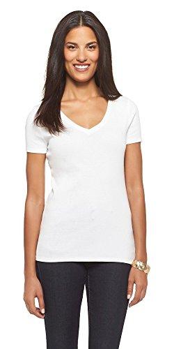 Masked Brand Women's Favorite Ultimate V-Neck Short Sleeve Tee (Large, Fresh White) from Masked Brand
