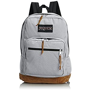 "JanSport Right Pack Backpack - 1900cu in (18""H x 13""W x 8.5""D, Grey Rabbit)"