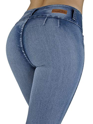 Colombian Design, High Waist, Butt Lift, Levanta Cola, Skinny Jeans in M. Blue Size 3