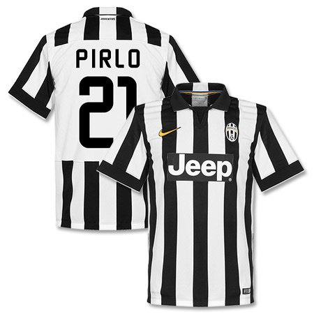 Juventus Home Pirlo Jersey 2014 / 2015 (Fan Style Printing) - L