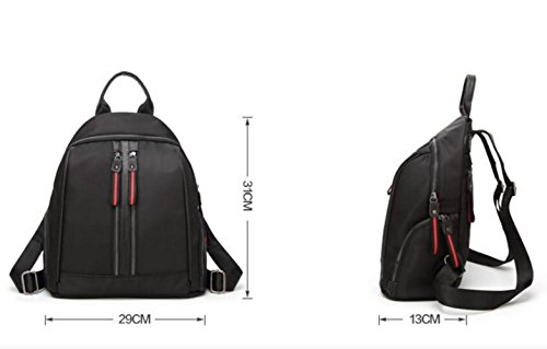 à Black Casual à à Main Vrac Oxford Sac Cloth Femmes Sac Dos Main En D'école Sac Sac TfpndBawqT