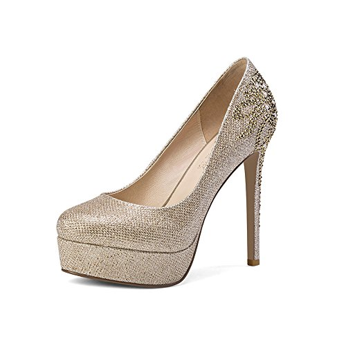Mujer Primavera Oro Cena Para Elegir Zapatos Delgados Tacones Colores Dos Y De Nan Cabeza Diamantes Redonda Imitación Verano Boda HEXxwnq1U