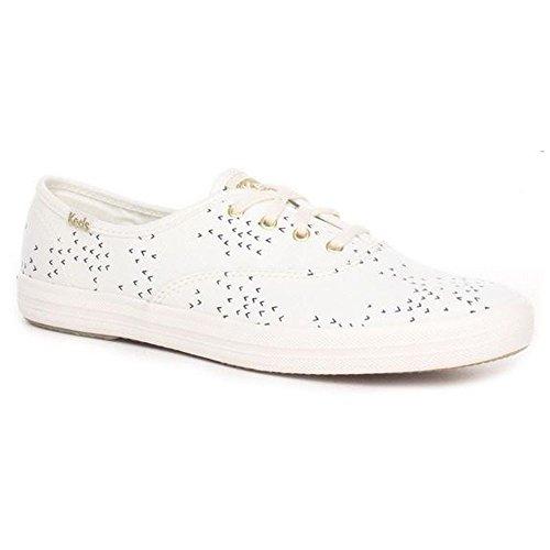 Keds WF56421 Women's Champion Fashion Sneaker, (Mini Bird) Cream/Navy, 6 B(M) US