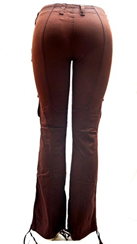 Blue Pointe Juniors Womens Stretch Premium Brown Cargo Pants 3054ES (9/10) by JEANS FOR LOVE (Image #3)