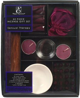 Aromatherapy Hosley® Premium Pack of 52 Pieces Highly Scented Sensual Therapy incense Gift Set. Hand fragranced, infused with essential oils. Ideal Gift for Weddings, Special Events, Aromatherapy, - Incense Set