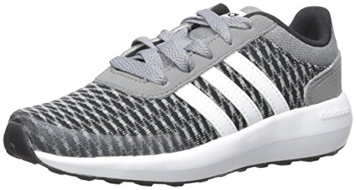 best service 28bc8 aa2d7 adidas NEO Boys Cloudfoam Race K Running Shoe, BlackWhiteTech Grey