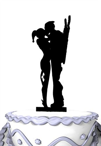 Meijiafei Wedding Cake Topper Topper And Harley Quinn Kiss The
