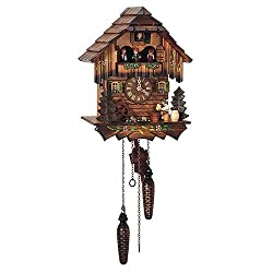 Schneider Quartz Black Forest 9 Inch Cuckoo Clock by Schneider