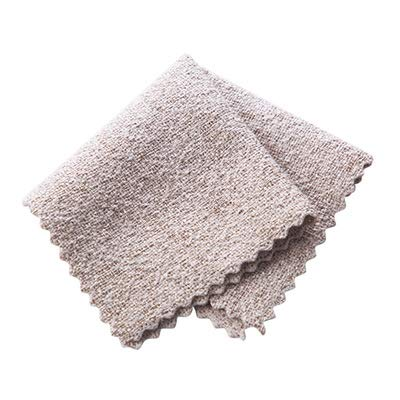 4 Color Assorted Microfiber Dish Cloth Best Kitchen Cloths Cleaning Cloths with Poly Scour Side 24.5cm×24.5cm (Grey)