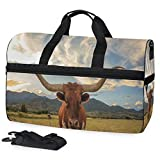SLHFPX Texas Longhorn Steer Gym Bags for