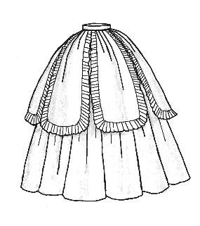 Amazoncom 1851 Petal Ballgown Skirt Pattern Arts Crafts Sewing