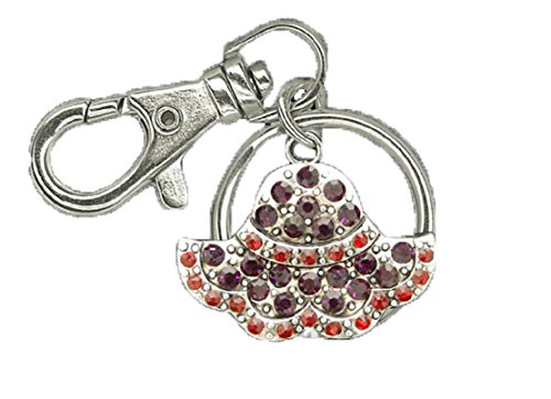RED HAT Key Chain is Embellished with Red & Purple Crystal Rhinestones.Perfect Gift for a 50 or Older RED HAT SOCIETY Woman:) ()