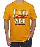 Trump 2020 Shirt Keep America Great T-Shirt Reelect President Donald Trump Mens Womens Non-PC Tee, Gold, Medium