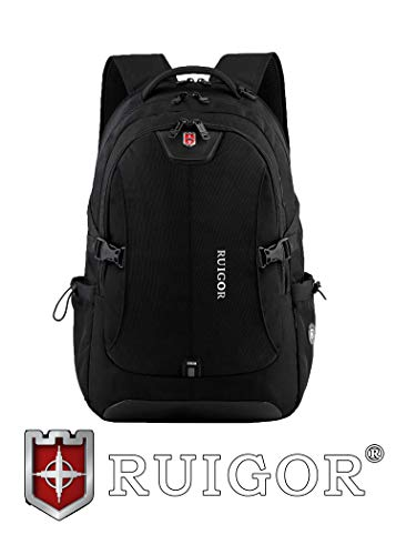 Ruigor Swiss Ruigor Icon 47 Backpack Black With Water Repellent Materials, 1.92 Oz (Swiss Items)
