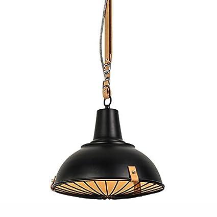 William 337 Lámpara de Techo Colgante de Cuero de Estilo ...