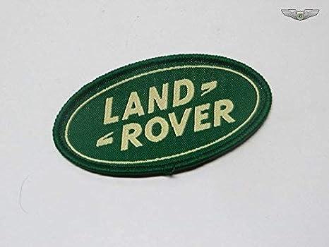 Land Rover Nuovo Tessuto Piccolo 10cm Tessuto Stemma Ovale Verde