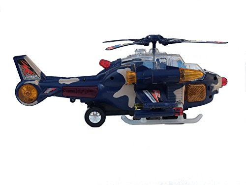 Toy Military Bump & Go Helicopter with Lights and Sounds ()