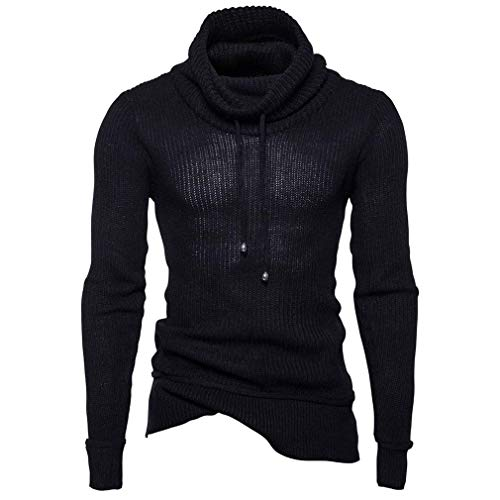 Hombres Sweater Alto Jer Betrothales Schwarz Cuello Jerseys Pullover Manga Larga Jersey 1UUWqYf0