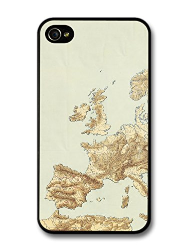 Classic Vintage Retro European Map with a Rustic Style case for iPhone 4 4S