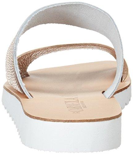 XTI Nude Metallic Ladies Sandals . - Sandalias con cuña Mujer Pink (Nude)